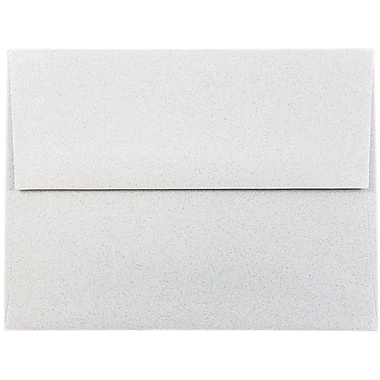JAM Paper® A2 Invitation Envelopes, 4 3/8 x 5 3/4, Granite Grey Recycled, 25/pack (CPST605)