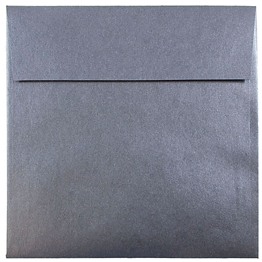 JAM Paper® 6.5 x 6.5 Square Envelopes, Stardream Metallic Anthracite Black, 25/pack (GCST506)