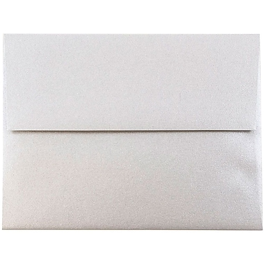 JAM Paper® A2 Invitation Envelopes, 4 3/8 x 5 3/4, Stardream Metallic Silver, 25/pack (GCST609)
