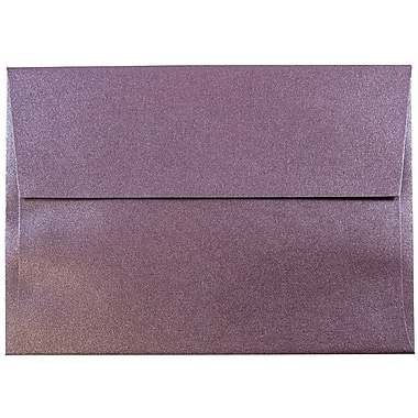 JAM Paper® A6 Invitation Envelopes, 4.75 x 6.5, Stardream Metallic Ruby Purple, 25/pack (GCST654)