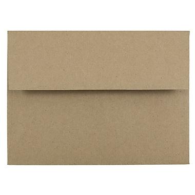 JAM Paper® A6 Invitation Envelopes, 4.75 x 6.5, Brown Kraft Paper Bag Recycled, 1000/carton (LEKR650B)