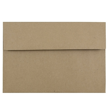 JAM Paper® A8 Invitation Envelopes, 5.5 x 8.125, Brown Kraft Paper Bag Recycled, 25/pack (LEKR750)
