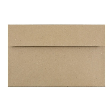 JAM Paper® A10 Invitation Envelopes, 6 x 9.5, Brown Kraft Paper Bag Recycled, 1000/carton (LEKR850B)
