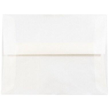 JAM Paper® A2 Invitation Envelopes, 4 3/8 x 5 3/4, Platinum Translucent Vellum, 25/pack (PACV616)