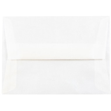 JAM Paper® A6 Invitation Envelopes, 4.75 x 6.5, Platinum Translucent Vellum, 25/pack (PACV666)