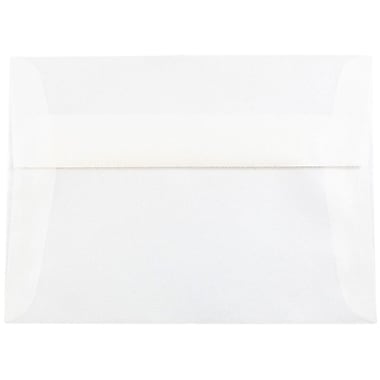 JAM Paper® A7 Invitation Envelopes, 5.25 x 7.25, Platinum Translucent Vellum, 25/pack (PACV716)