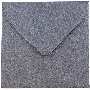 JAM Paper® 3.125 x 3.125 Mini Square Envelopes, Stardream Metallic Anthracite Black, 25/pack (V018241)