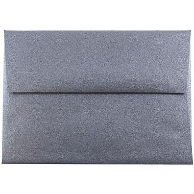 JAM Paper® 4bar A1 Envelopes, 3 5/8 x 5 1/8, Stardream Metallic Anthracite Black, 25/pack (V018245)