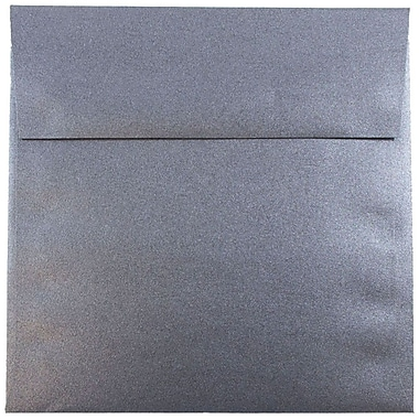 JAM Paper® 6 x 6 Square Envelopes, Stardream Metallic Anthracite Black, 25/pack (V018309)