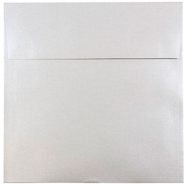 JAM Paper® 8.5 x 8.5 Square Envelopes, Stardream Metallic Silver, 1000/carton (V018318B)