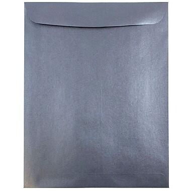 JAM Paper® 10 x 13 Open End Catalog Envelopes, Stardream Metallic Anthracite Black, 100/pack (V018326)