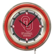 Holland Bar Stool NCAA 19'' Neon Clock; Oklahoma Sooners