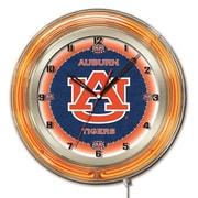 Holland Bar Stool NCAA 19'' Neon Clock; Auburn Tigers