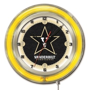 Holland Bar Stool NCAA 19'' Neon Clock; Vanderbilt Commodore