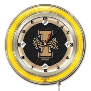 Holland Bar Stool NCAA 19'' Neon Clock; Idaho Vandals