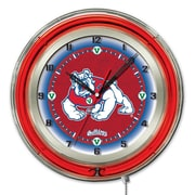 Holland Bar Stool NCAA 19'' Neon Clock; Fresno State Bulldogs
