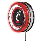 Holland Bar Stool NCAA 19'' Neon Clock; Cincinnati Bearcats