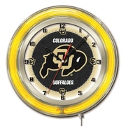 Holland Bar Stool NCAA 19'' Neon Clock; Colorado Buffaloes