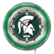 Holland Bar Stool NCAA 19'' Neon Clock; Michigan State Spartans