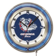 Holland Bar Stool NCAA 19'' Neon Clock; Gonzaga Bulldogs