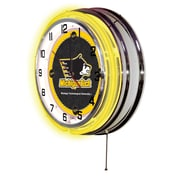 Holland Bar Stool NCAA 19'' Neon Clock; Michigan Technological University