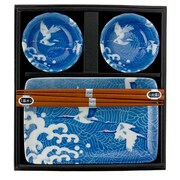 Miya Company Cranes 6 Piece Dinnerware Set (Set of 6)
