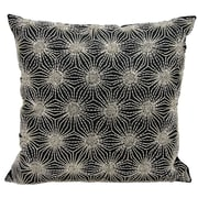 Mina Victory Beaded Sun Stars Throw Pillow; Black/Silver