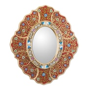 Novica Asunta Pelaez Unique Reverse Painted Glass Mirror