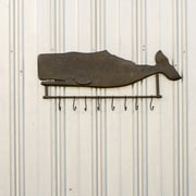 Ragon House Collection Metal Whale Wall Hanging Coat Rack w/ Hooks