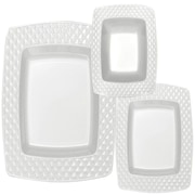 Table to go Diamond 'I Can't Believe Its Plastic' 75 Piece Dinnerware Set