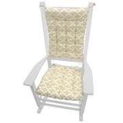Barnett Home Decor Garden Outdoor Rocking Chair Cushion; Neutral