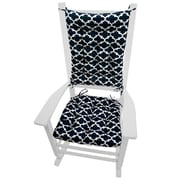 Barnett Home Decor Garden Outdoor Rocking Chair Cushion; Blue
