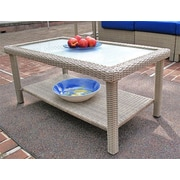 Wicker Warehouse Caribbean Coffee Table Outdoor Rectangular Coctail Table