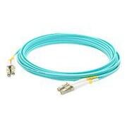 AddOn® ADD-LC-LC-3M5OM3 3 m LC to LC Male/Male OM3 Duplex Fiber Optic Patch Cable, Aqua