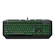 Cooler Master® Devastator II Optical Wired Gaming Mouse & Keyboard Bundle, Black/Black/Green LED (SGB-3032-KKMF1-US)