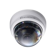 LevelOne® FCS-4201 2MP Wired Zoom Dome IP Network Camera, Motion Detection, White