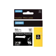 "Dymo Rhino 1805440 1/4"" ID Label, Black On Clear"