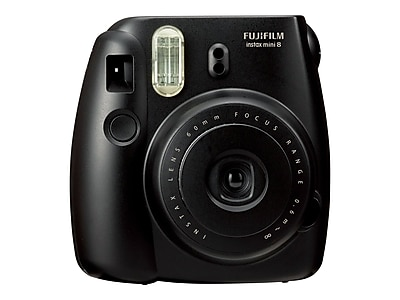 Fujifilm instax mini 8 Instant Camera, Black, 2/Pack