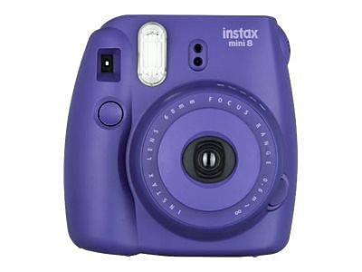 Fujifilm instax mini 8 Instant Camera, Grape, 2/Pack