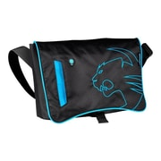 "Roccat™ Into Black/Blue Nylon Messenger Bag for 17.3"" Notebook (ROC-15-800-AS)"