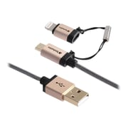 Verbatim® 99218 3.92' Lightning to Micro USB Adapter, Champagne