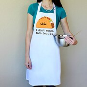 Love You A Latte Shop 100pct Cotton I Don't Wanna Taco Bout It Apron