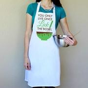 Love You A Latte Shop 100pct Cotton You Only Live Once Lick The Bowl Apron