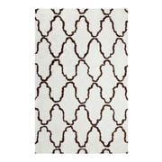 Simple Luxury Superior Trellis Hand-Woven Ivory/Chocolate Area Rug; 4' x 6'