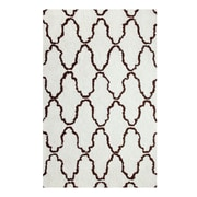 Simple Luxury Superior Trellis Hand-Woven Ivory/Chocolate Area Rug; 8' x 10'