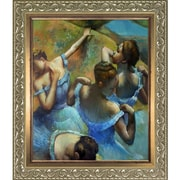 Tori Home  Blue Dancers  by Edgar Degas Framed Original Painting on Canvas
