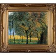 Tori Home Luxury Line  Fruit Trees  by Gustav Klimt Framed Original Painting on Canvas
