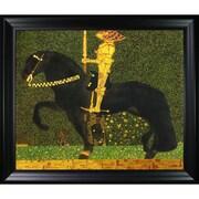 Tori Home Luxury Line  The Golden Knight  by Gustav Klimt Framed Original Painting on Canvas