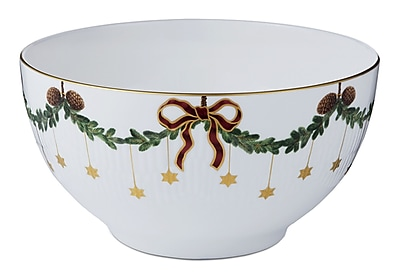 Royal Copenhagen Star Fluted Christmas 56 oz. Bowl WYF078277960493