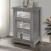 Gallerie Decor Summit Mirrored 3 Drawer Cabinet